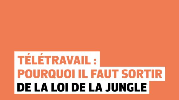 Télétravail : pourquoi il faut sortir de loi de la jungle